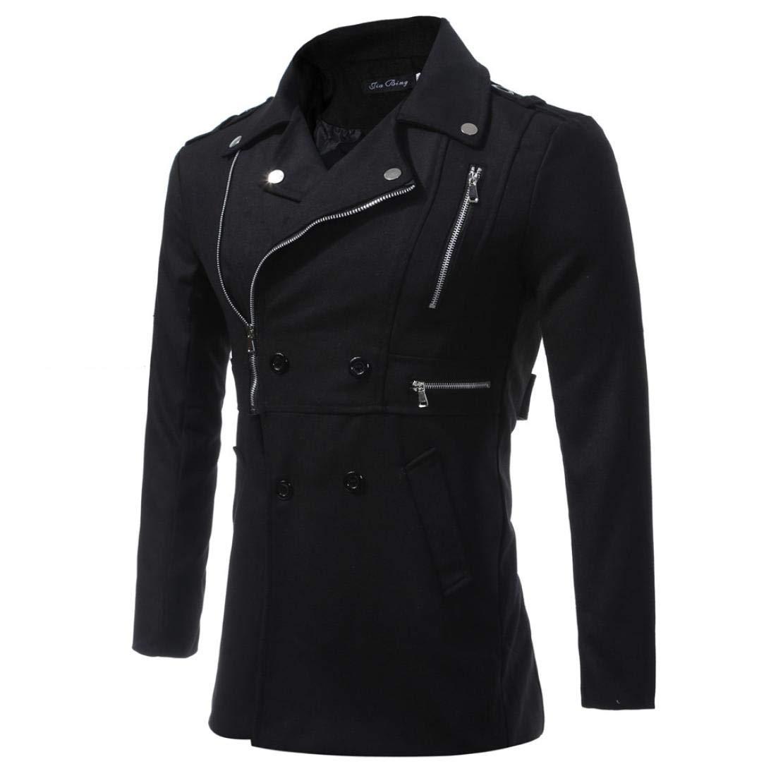 Sharemen Men's Casual Zipper Winter Jackets Outdoor Coat