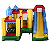 Costzon Mighty Inflatable Bounce House Castle Jumper Moonwalk Bouncer With Balls With 680W Blower
