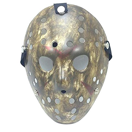 [NeoConcept Friday the 13th Jason Hockey Horror Mask Halloween Party Cosplay Costume Mask (Dirty)] (Classic Jason Costume)