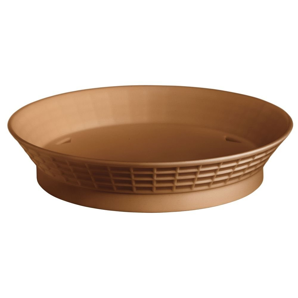Tablecraft Terra Cotta Polypropylene 9'' Round Platter with Base