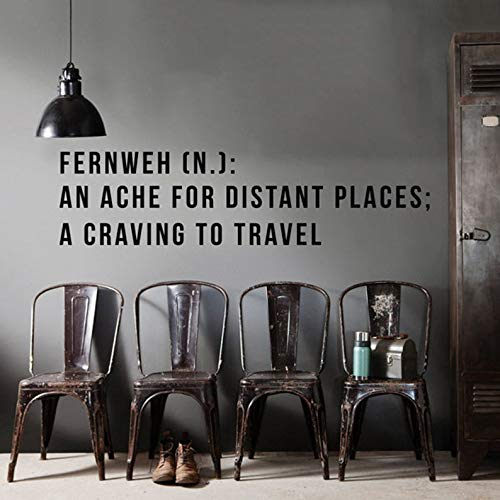 - BYRON HOYLE Fernweh Definition Wall Decal, an ache for Distant Places, a Craving to Travel, Large Wall Quotes Wall Words Travel Wall Decal WAL-2259