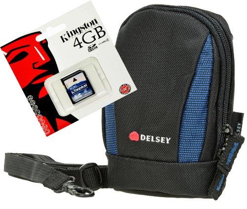 Delsey delpix II 102blu, Set con 4GB SD Spe...
