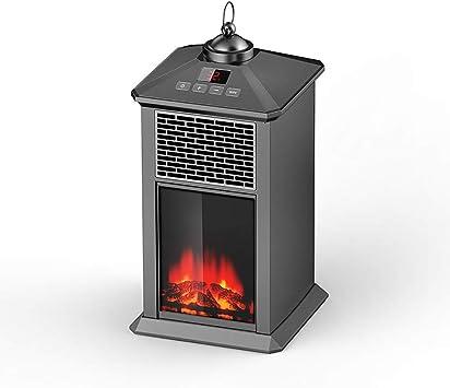 Amazon.co.jp: ミニ電気暖炉炎効果卓上ポータブルストーブヒーター ...