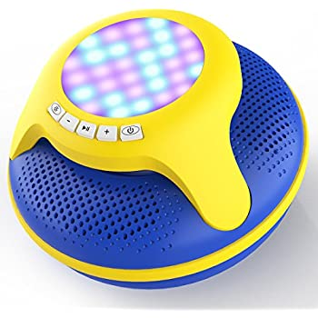 Charitable Portable Bluetooth Speaker Led Light Waterproof Floating Pool Bath Spa Shower Speakers With Bottom Sucker 100% Original Portable Speakers Speakers
