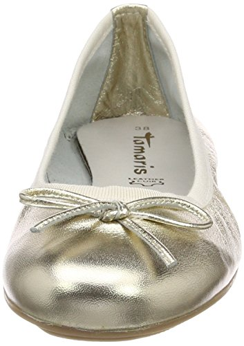 Tamaris Ballerine 22165 Oro Gold light 909 Donna rRrBqwdf
