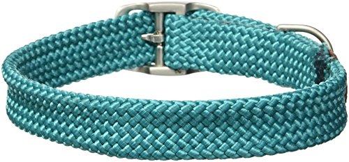 Braid Leather Bridle - Mendota Double-Braid Collar, Teal, 1