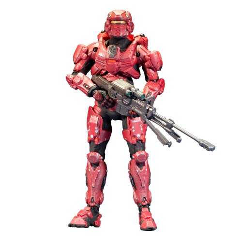 McFarlane Toys Halo 4 Series 1 - Red Spartan Soldier with Sniper Rifle Action Figure