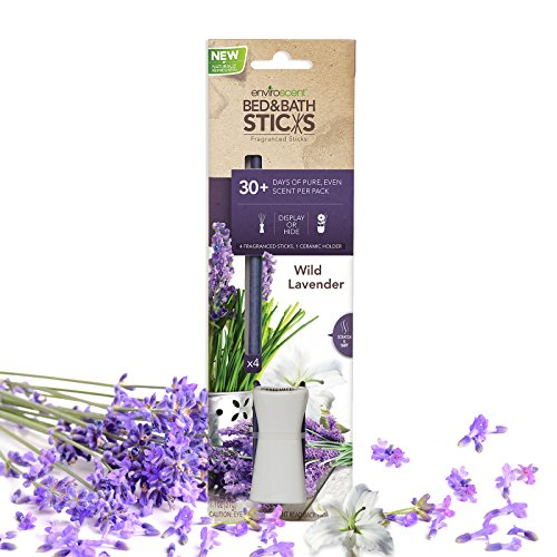 Enviroscent Bed and Bath Aroma Diffusers, Wild Lavender Fragrance, Box of 4