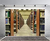 Leyiyi 7x5ft Photography Backgroud Bookshelves Backdrop Modern Library Leisure Time College Knowledge Wisdom Study Path Row Borrow Reading Corner Magazine Photo Portrait Vinyl Studio Video Prop