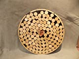 Alternative Wedding wooden guest book Circle top drop shadow box 1.5'' round wood charms