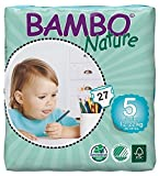 Bambo Nature Premium Baby Diapers, Size 5, 162 Count (6 Packs of 27)