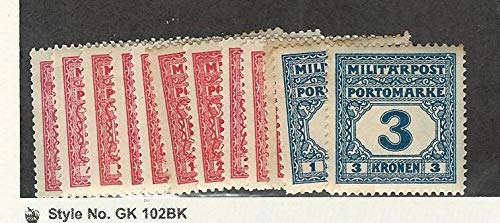 Bosnia & Herzegovina, Postage Stamp, J14-J23, J25-J26 Mint LH, 1916-18, JFZ
