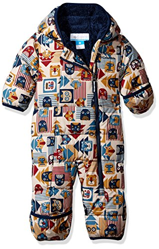 Columbia Baby Boys' Frosty Freeze Bunting, Collegiate Navy Critter Blocks, 6/12