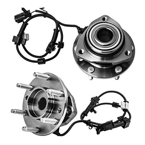 (Front Wheel Hub and Bearing Assembly Left or Right Compatible Buick Rainier Chevry SSR Trailblazer EXT GMC Envoy XL XUV Isuzu Ascender Oldsmobile Bravada Saab 9-7X AUQDD 513188 x2 (Pair) 6 Lug W/ABS)
