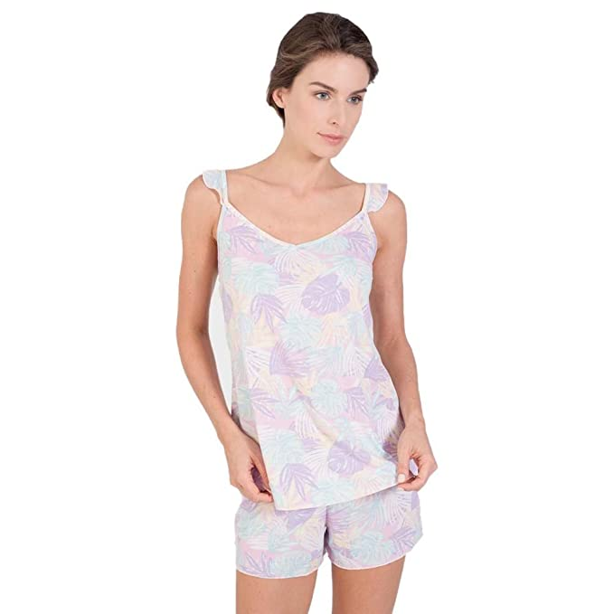 MASSANA Pijama de Mujer Estampado P181225 - Rosa, M