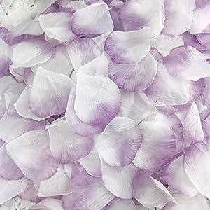 DALAMODA 1000pcs Silk Rose Petals Artificial Flower DIY Wedding Party Aisle Decor Tabl Scatters Confett (Lavender K1) 8