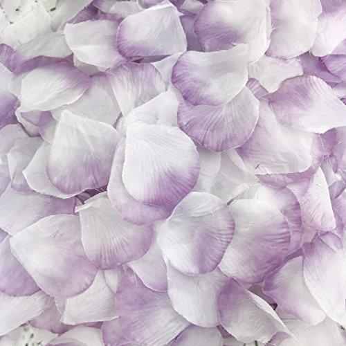 DALAMODA 1000pcs Silk Rose Petals Artificial Flower DIY Wedding Party Aisle Decor Tabl Scatters Confett (Lavender ()