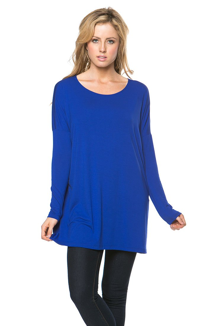 Women's Long Sleeve Bamboo Top Loose Fit Tunic