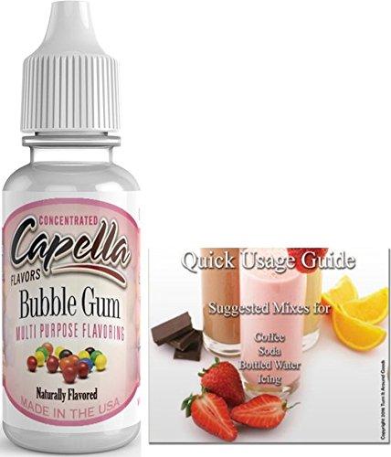 Capella Flavor Drops Concentrated & Quick Start Guide Bundle (Bubble Gum, 13ml)
