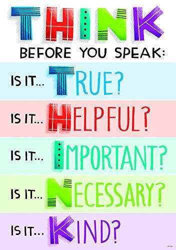 Creative Teaching Press Think before you speak Inspire U Poster, CTP 8584