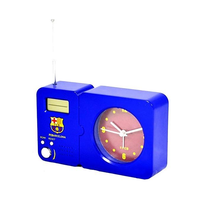 Radio despertador con escudo del F.C. Barcelona – Producto oficial turquesa Talla única