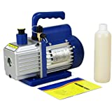 F2C 3.5 CFM 1/4HP Single-Stage Rotary Vane Vacuum Pump Air Conditioner Refrigeration HVAC Air Tool AC R410a Single Stage