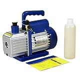 F2C 3,5 CFM 1/4HP Single-Stage Rotary Vane Vacuum Pump Air Conditioner Refrigeration HVAC Air Tool AC R410a Single Stage (3,5CFM)