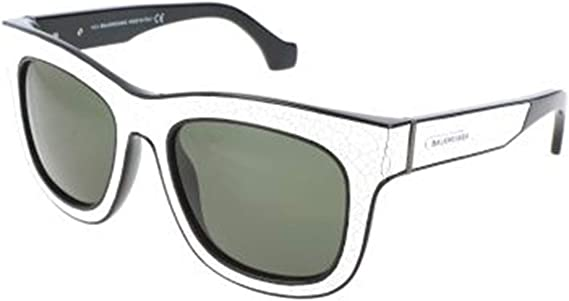 green Sunglasses Balenciaga BA 9 BA0009 23N white//black