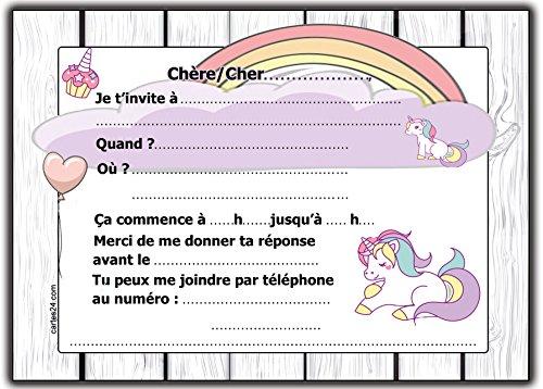 francais invitations lot 10