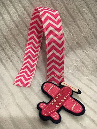 - Pink and White Pacifier Clip, Airplane Pacifier Clip, Chevron Pacifier Clip, Pink Baby Shower, Pink Nursery, Baby Gifts, Custom Baby Gift, Preppy Baby Shower, Preppy Nursery