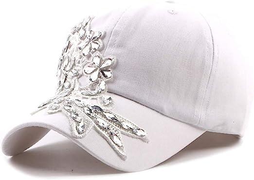 Caps Women Embroidery Flower Retro Peaked Cap Cotton Adjustable Baseball CapRhinestone 6 Panel Sun Hat Baseball Caps