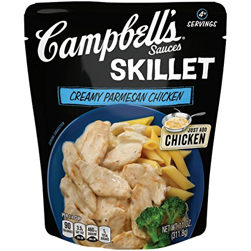 Campbell's Skillet Sauces, Creamy Parmesan Chicken, 11 Ounce (Packaging May (Parmesan Pasta Sauce)