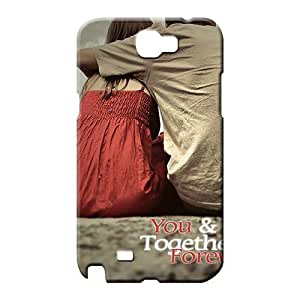 samsung note 2 Brand Customized High Quality cell phone carrying skins you and me