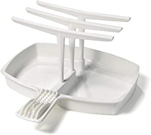 OKOKMALL US--Microwave Bacon Cooker Bacon Rack Tray Maker Plate Hanging Healthy Drip NEW S