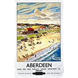 Aberdeen - BR (ScR) poster 1948-1965 - Microfibre Tea Towel - 10170699 - Makes an Ideal Gift by personalised4u