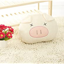Popular Emoji Pillow Cute Pig Expression Plush Toy Stuffed Animal for Children, Hand Warmer Valentine Gift (Smile)