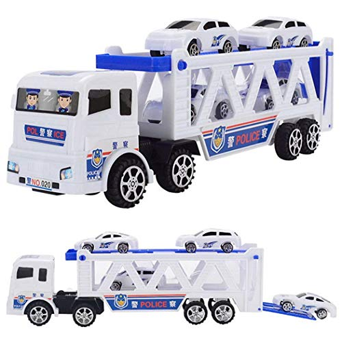 Amazon.com: Bifast Children Trumpet Truck with Mini Police Cars Playing Toys Vehicles for Kid Boys Gift: Toys & Games