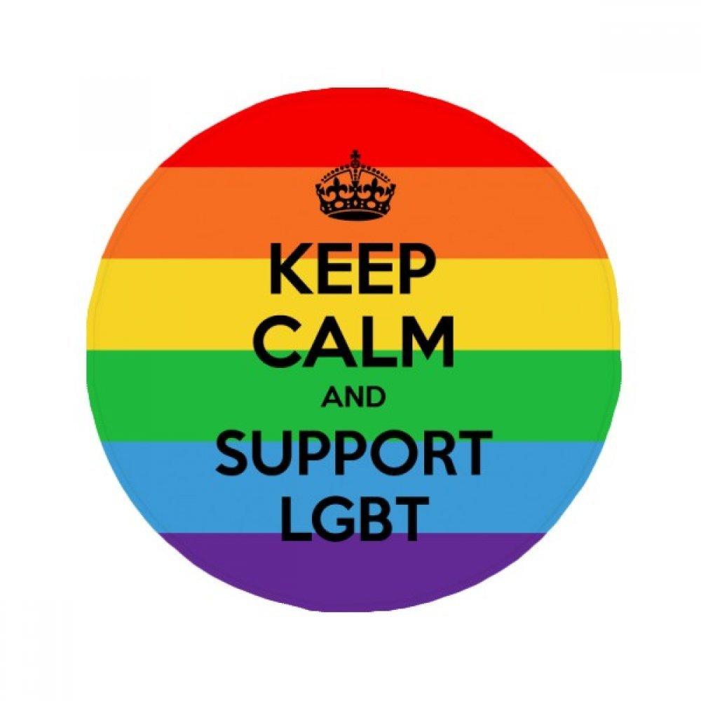 60X60cm DIYthinker Gay Lesbian Transgender Bisexuals Flag LGBT Anti-Slip Floor Pet Mat Round Bathroom Living Room Kitchen Door 60 50Cm Gift