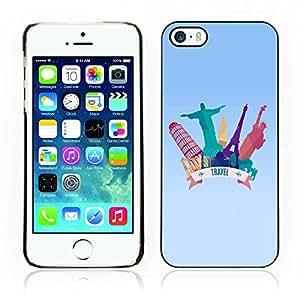 Carcasa Funda Case // V0000620 Travel Concept Vector Illustration // Apple Iphone 5 5S