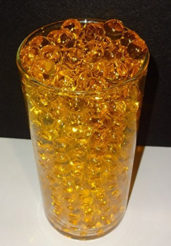 Gold Water beads - Water Absorbing & Expanding All Event Vase Filler Centerpiece Decorations