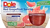 Dole Fruit Bowls, Red Grapefruit Sunrise in 100% Juice, 4 Cups (Pack of 6)