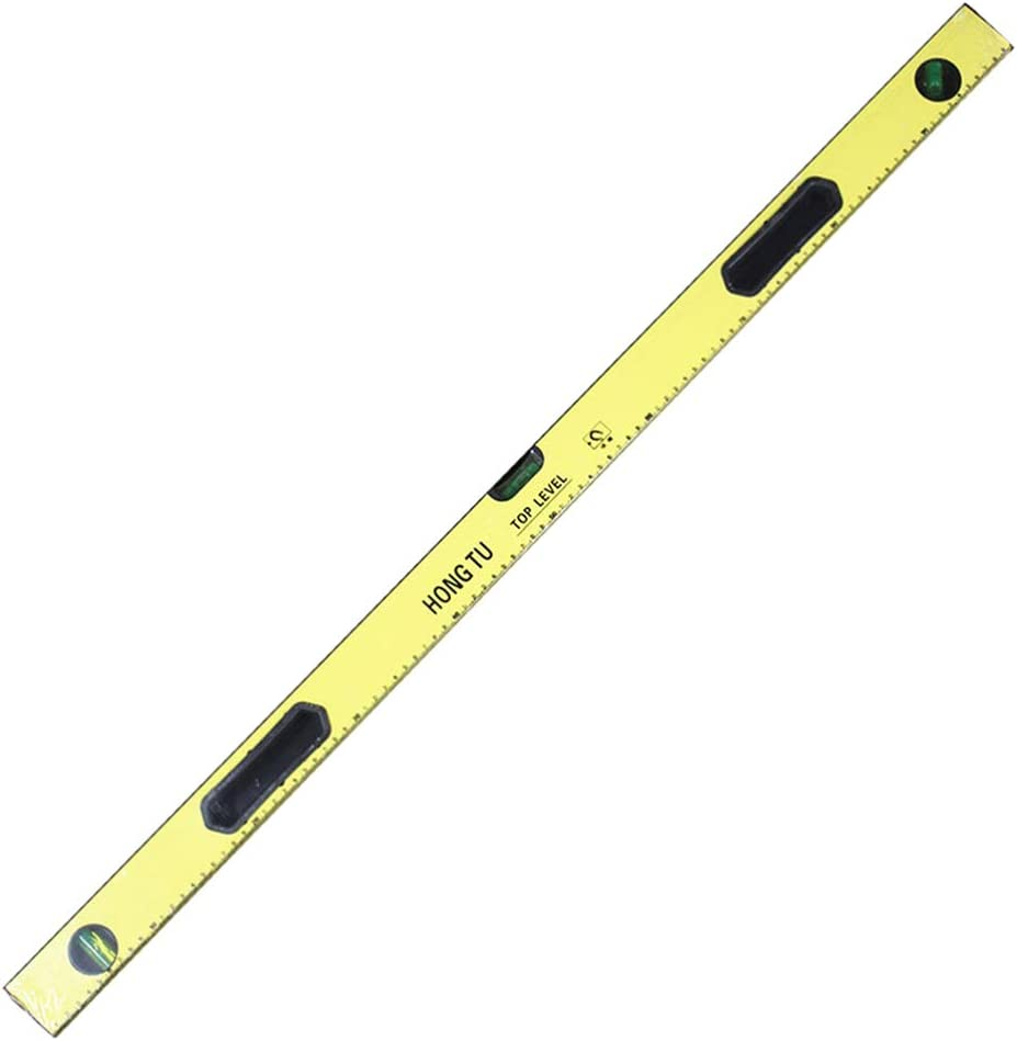 ULTECHNOVO High Precision Aluminum Alloy Levelling Instrument Measuring Balance Ruler Standard Rulers 1000mm Yellow
