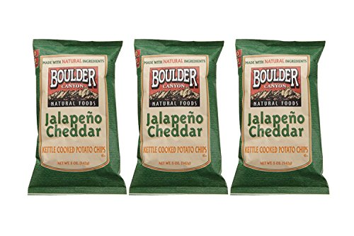 BOULDER CANYON | Kettle Chips | Jalapeno Cheddar | Gluten Free [ 3 Pack ]
