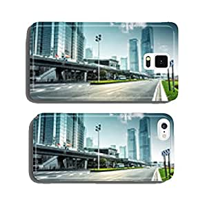 urban road and modern city skyline cell phone cover case iPhone6
