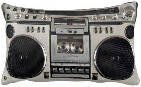Amazing Lovely Vintage 80s Boombox Ghettoblaster Design Luxury Printing Pillow Cover Rectangle Throw Pillowcase Zippered Cover (20x30 inch)]()