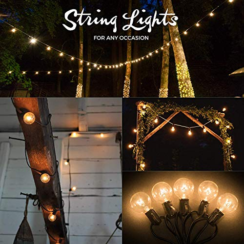 50ft Black String Lights, 60 G40 Globe Bulbs (10 Extra): Connectable, Waterproof, Indoor/Outdoor Globe String Lights for Patios, Parties, Weddings, Backyards, Porches, Gazebos, Pergolas & More by Outdoor Lighting Store (Image #3)