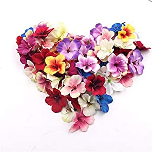Hozhang 20Pcs 5Cm Mini Silk Orchid Artificial Flower Head for Wedding Home Decoration Real Touch Orchis Cymbidium Flowers Plants 91