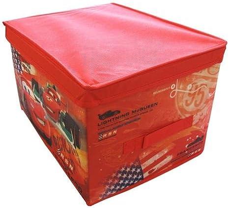 Caja de almacenaje Disney 30 x 40 x 25 cm - Rayo McQueen Cars: Amazon.es: Hogar