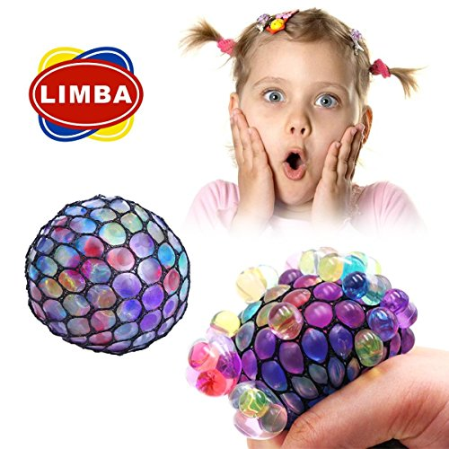 New Anti Stress Balls (6 CM) - Mesh Balls by LIMBA (1 PC) – Multi Color Squeeze Grape Balls – Stylish Squishy Balls Are Perfect Stress Relief Balls for Everybody (1 Mesh Net)