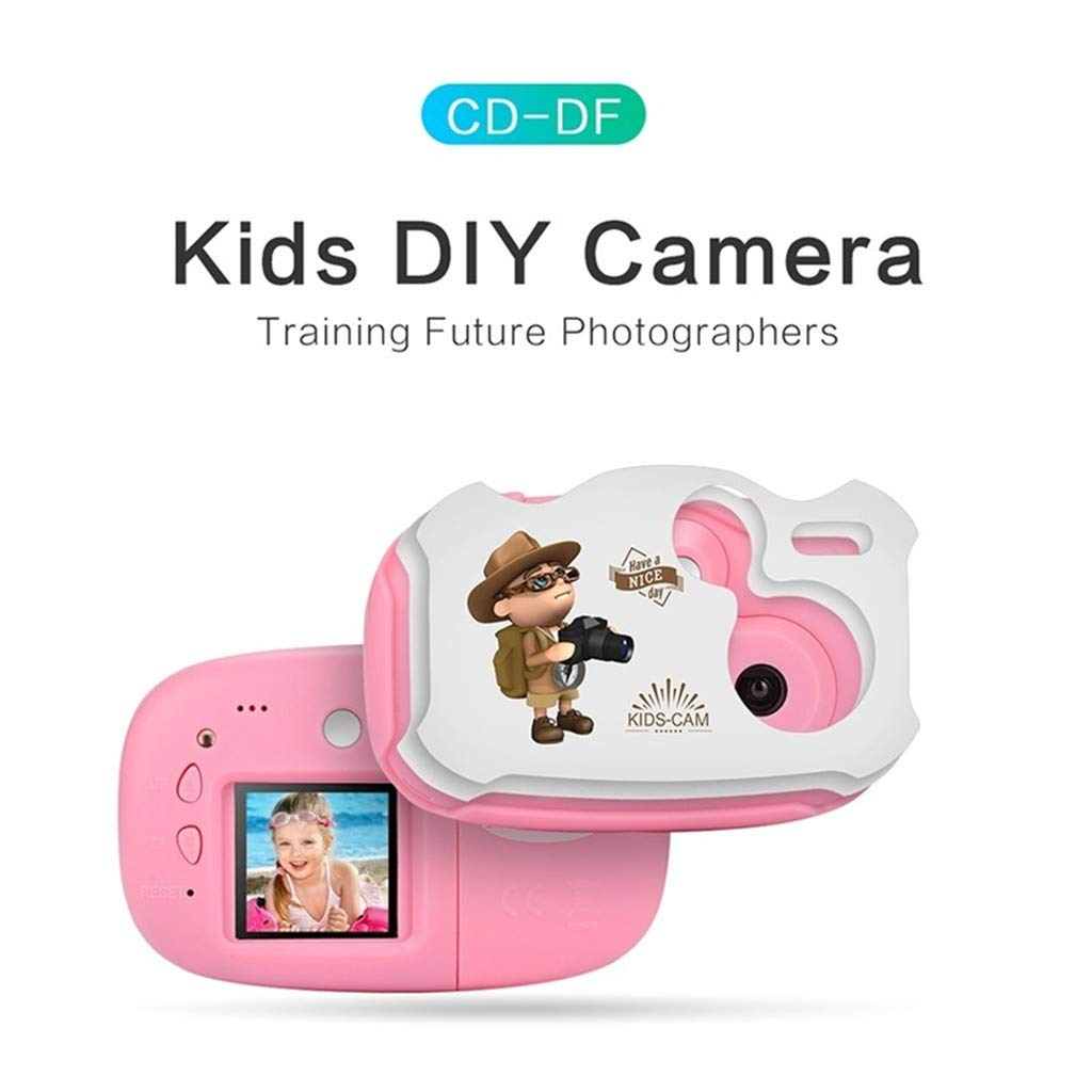 Sdoveb Children Sport Camera 1.7 Inch Portable Kids Camera Video Recorder DV DVR Cam Camcorder Camera (Pink) by Sdoveb (Image #2)